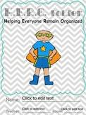HERO Folders - Helping Everyone Remain Organized (Editable)