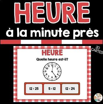 HEURE À LA MINUTE PRÈS - Ressource numérique - FRENCH BOOM CARDS