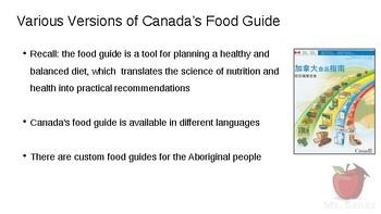 HFA4U - Culture and the Food Guide