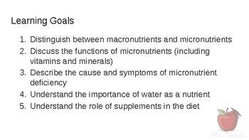 HFA4U - Micronutrients (vitamins and minerals)
