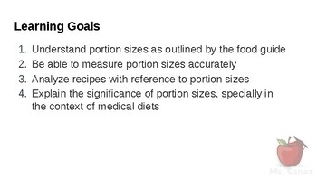 HFA4U - Portion Sizes and Why they Important