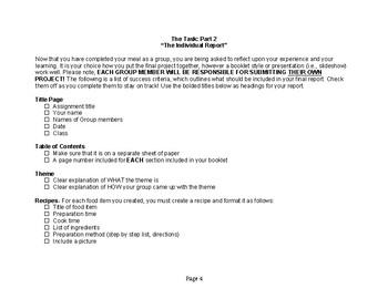 HFN2O Summative Cooking Task