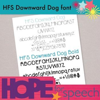 HFS Downward Dog Font