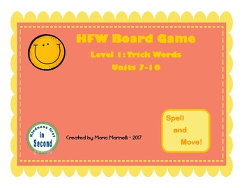 FUNtastic Board Game Level 1: Trick Words Units 7-10