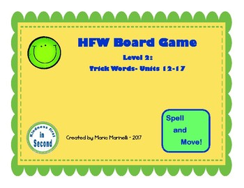FUNtastic Board Game Level 2:  Trick Words- Units 12-17