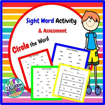 HFW Circle the Word and Spelling Check Activity Pack