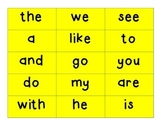 HFW FRY Kindergarten Word Cards for READING WONDERS