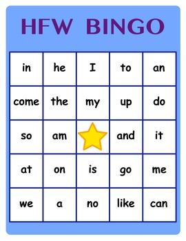 HFW (High Frequency Word) BINGO