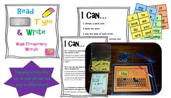 HFW: Read, Type, Write Center Activity