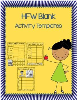 HFW / Sight Word Blank Activity Templates