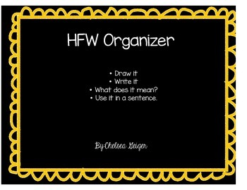 HFW or Spelling Graphic Organizer