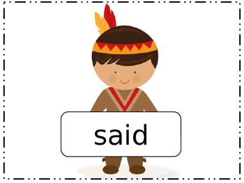 HFW (sight words) Thanksgiving review game