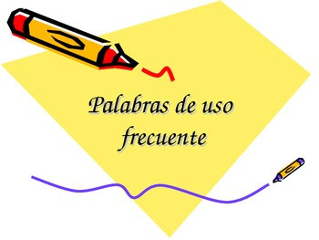 HFWs in Spanish (125) and English (50) useful for 1st-3rd.