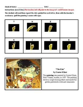 HI Hearing Impairment Deafness - Famous Art w/ ASL