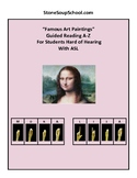 """Guided Reading A-Z: """"Famous Art"""" for Hard of Hearing"""