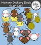 HICKORY DICKORY DOCK.  CLIP ART FOR NURSERY RHYMES