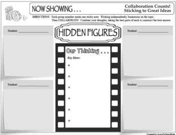 HIDDEN FIGURES Collaboration Movie Film Activity Cooperative Group