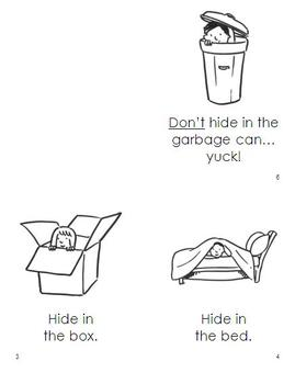 Easy Readers HIDE AND SEEK (3 booklets for Kindergarten and Grade One)