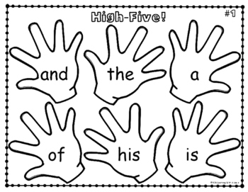 HIGH-FIVE! SIGHT WORD PRACTICE