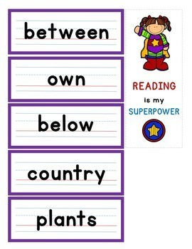 HIGH-FREQUENCY WORD CARDS