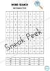 HIGH FREQUENCY WORD SEARCH - *PACK OF 6* - Word Work