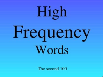 HIGH FREQUENCY WORDS (101- 200)