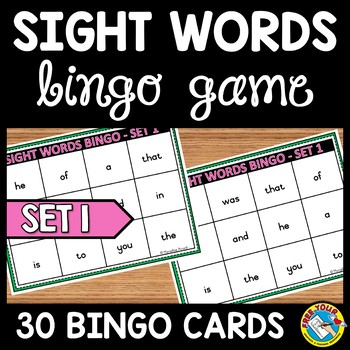 FRY SIGHT WORDS GAME: SIGHT WORDS BINGO: FRY WORDS ACTIVITY: SIGHT WORD PRACTICE