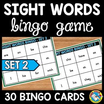 SIGHT WORDS GAME: SIGHT WORDS BINGO: FRY WORDS