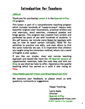 HIGH SCHOOL - LESSON 6 - NUMBERS 1 - 100