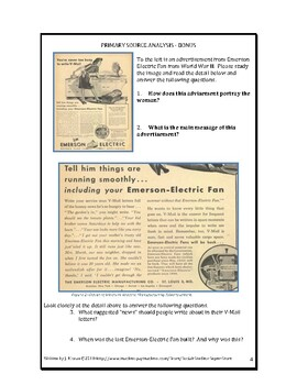 HIGH SCHOOL - War Letters-WWII primary source AND a Free resource!