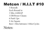 HIIT Workouts + Weight Training PE Plans with Log