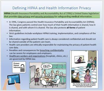 HIPAA (Health Insurance Portability and Accountability)