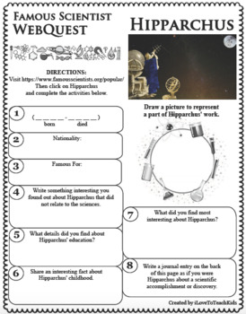 HIPPARCHUS - WebQuest in Science - Famous Scientist - Differentiated