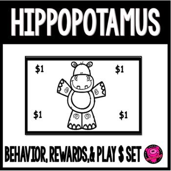 HIPPOPOTAMUS CHARACTER REWARDS AND BEHAVIOR SET