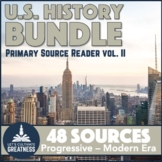 US History Bundle: Gilded Age to Vietnam War Primary Source Analysis 48-Pack