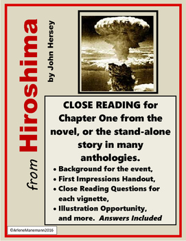 HIROSHIMA Close Reading of Chapter 1 or Stand-alone Textbook Story