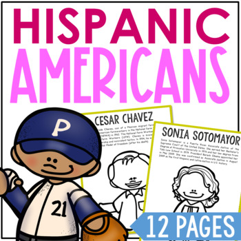 HISPANIC AMERICANS Coloring Pages and Research Projects, History Craft Activity