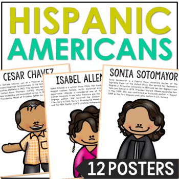 HISPANIC AMERICANS Posters | Bulletin Board Decor