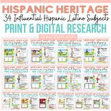 HISPANIC AND LATINO HERITAGE MONTH: BIOGRAPHY:FLIPBOOK:INTERACTIVE NOTEBOOK