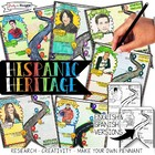 HISPANIC HERITAGE MONTH, BIOGRAPHY RESEARCH, PENNANT, IN ENGLISH AND SPANISH