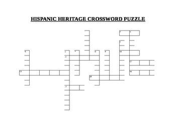 HISPANIC HERITAGE CROSSWORD PUZZLE