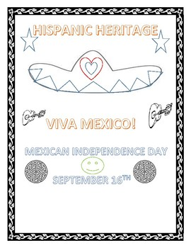Hispanic Heritage Mexican Independence Day Coloring Page Tpt