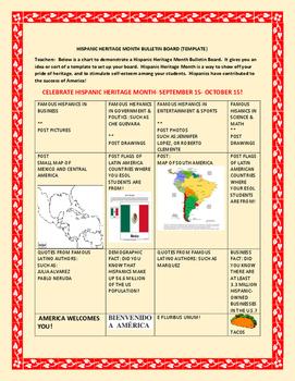 hispanic heritage month bulletin boards teaching resources