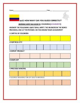 HISPANIC HERITAGE MONTH: COLOMBIA