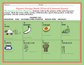 HISPANIC HERITAGE MONTH: EXPORTS OF LATIN AMERICA