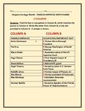 HISPANIC HERITAGE MONTH: FAMOUS HISPANICS MATCH GAME: A CHALLENGE!