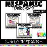 Herencia Hispana   Hispanic Heritage Month Google Slides Bundle in Spanish