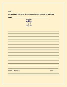 HISPANIC HERITAGE MONTH: HISPANIC LEADERS: AP HISTORY, SOCIAL STUDIES, CIVICS