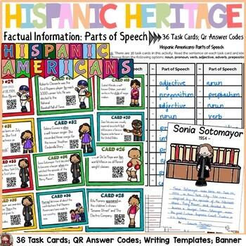HISPANIC HERITAGE MONTH {PARTS OF SPEECH, QR CODES, STUDEN