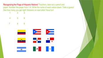 HISPANIC HERITAGE MONTH- POWER POINT FOR STAFF - PD  SUPPLEMENTAL ACTIVITY
